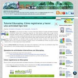 Tutorial Educaplay. Cómo registrarse y hacer una actividad tipo test