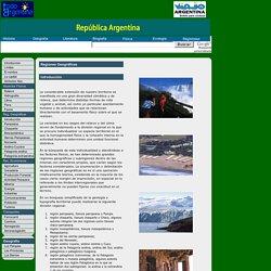 Regiones Geográficas de las republicas Argentinas