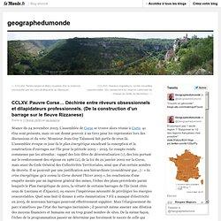 Barrage en Corse