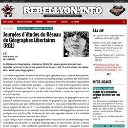 Journées d'études du Réseau de Géographes Libertaires (RGL)