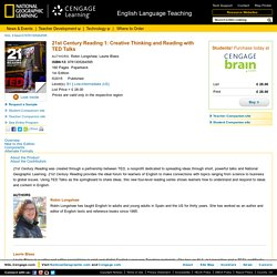 National Geographic Learning - Reading - 21st Century Reading 1: Creative Thinking and Reading with TED Talks, 1stEdition - 9781305264595