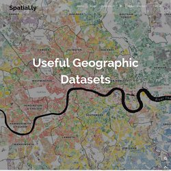 Useful Geographic Datasets