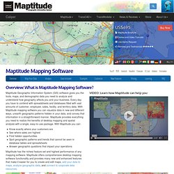 Maptitude Geographic Information System and mapping software