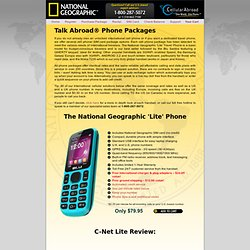 National Geographic Talk Abroad International Cell Phone