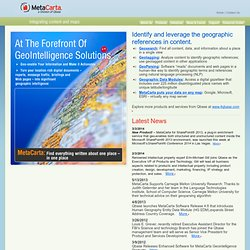 Geographic Search and Referencing Solutions - MetaCarta - At the