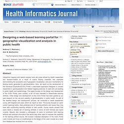 Designing a web-based learning portal for geographic visualization and analysis in public health