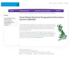 Great Britain Historical Geographical Information System (GBHGIS)