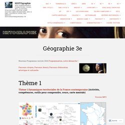 Géographie 3e – HISTOgraphie