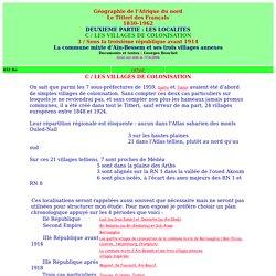 geographie de l'afrique du nord,le titteri des francais,les localites,ain-bessem,bertville,aboutville,hoche,bouchet;alger-roi.fr
