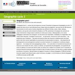 Géographie cycle 3 - Canopé Académie de Grenoble