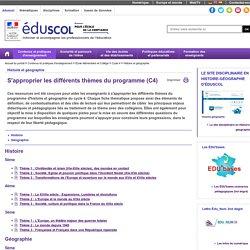 Cycle 4 - S'approprier les différents thèmes du programme