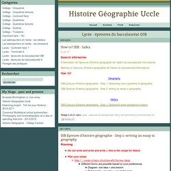 Histoire Géographie Uccle: Lycée - épreuves du baccalauréat OIB