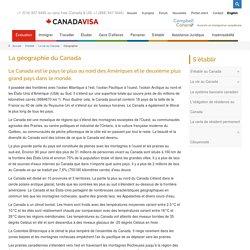 Connaître la géographie du Canada - Canadavisa.com