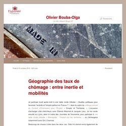 Géographie des taux de chômage : entre inertie et mobilités
