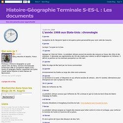 Histoire-Géographie Terminale S-ES-L : Les documents: L'année 1968 aux Etats-Unis : chronologie