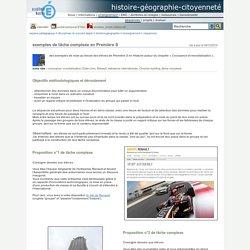 histoire-géographie-citoyenneté - exemples de tâche complexe en Première S