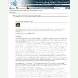 histoire-géographie-citoyenneté - de l'usage des tablettes en histoire-géographie