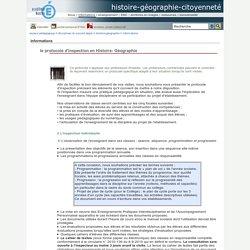 histoire-géographie-citoyenneté - le protocole d'inspection en Histoire- Géographie