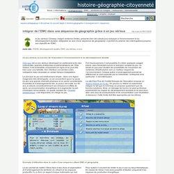 histoire-géographie-citoyenneté - intégrer de l'EMC dans une séquence de géographie grâce à un jeu sérieux