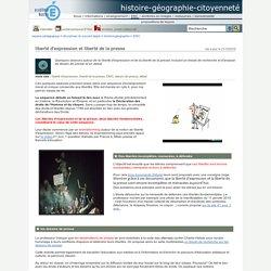 histoire-géographie-citoyenneté - liberté d'expression et liberté de la presse