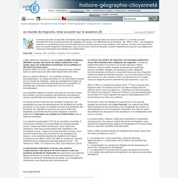 Un monde de migrants - Académie Nantes