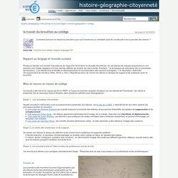 histoire-géographie-citoyenneté - le travail du brouillon au collège