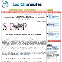 Un SPIP pour et par les élèves en HGEC au collège - Les Clionaut