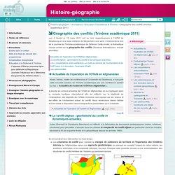 Géographie des conflits (Trinôme académique 2011)