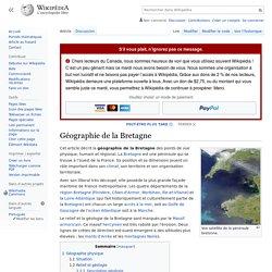 Géographie de la Bretagne