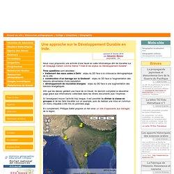 Une approche sur le Développement Durable en Inde.