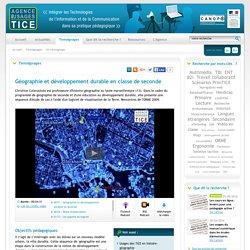 L'Agence nationale des Usages des TICE - Géographie et développement durable en classe de seconde