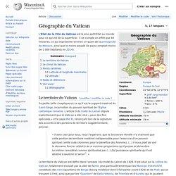 Géographie du Vatican