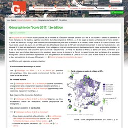 Géographie de l'école 2017, 12e édition