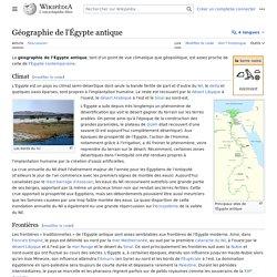 Géographie de l'Égypte antique