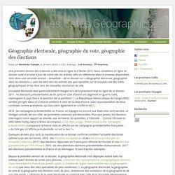 Géographie électorale, géographie du vote, géographie des élections » Print
