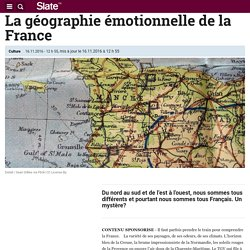 La géographie émotionnelle de la France
