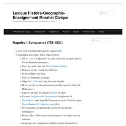 Lexique Histoire-Géographie-Enseignement Moral et Civique