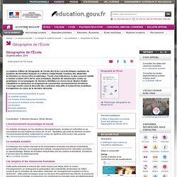 Géographie de l'École - Ministère de l'Éducation nationale, de l'Enseignement supérieur et de la Recherche