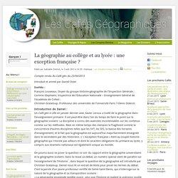 """""""La géo au collège et au lycée : une exception française ?"""" 2013"""