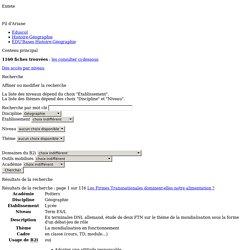 EDU'bases Histoire-Géographie - Formulaire de recherche et résultats pour : Géographie