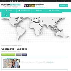 Géographie - Bac 2015