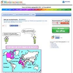 Cours de Histoire-géographie CM2 - La francophonie