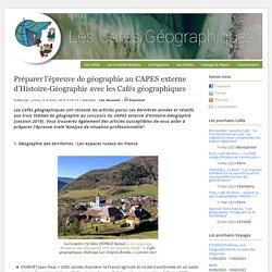Préparer l'épreuve de géographie au CAPES externe d'Histoire-Géographie avec les Cafés géographiques