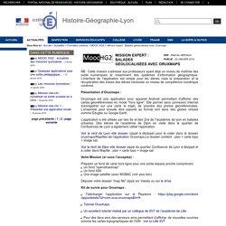 Histoire-Géographie-Lyon - Mission expert : Balades géolocalisées avec Oruxmaps