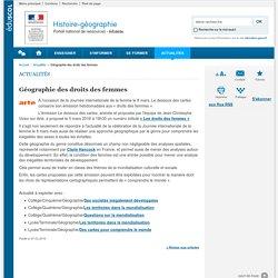 Géographie des droits des femmes-Histoire-géographie-Éduscol