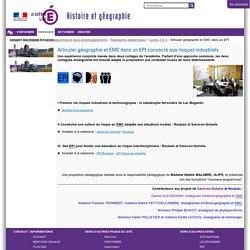 Articuler géographie et EMC dans un EPI consacré aux risques industriels — HEG