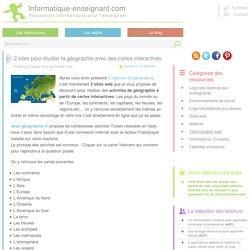 Etudier la géographie avec des cartes interactives