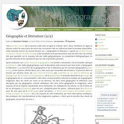Géographie et littérature (2/2)