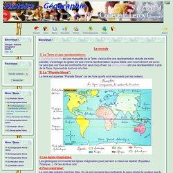 le site de Français - Histoire Géographie - B) Géographie 6ème - 1) Planisphère: continents, océans...