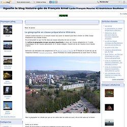 La géographie en classe préparatoire littéraire. - le blog histoire géo de François Arnal Lycée François Mauriac 42 Andrézieux-Bouthéon